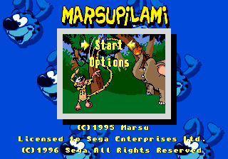 Marsupilami Title Screen