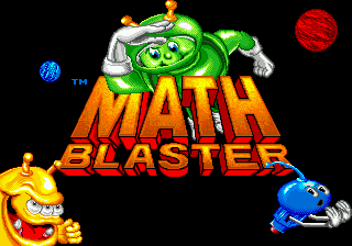 Math Blaster - Episode 1 Title Screen