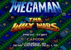 Mega Man - The Wily Wars Title Screen