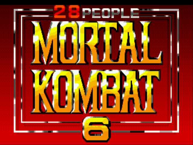 Mortal Kombat 6 28 People Title Screen
