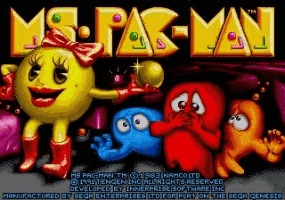 Ms Pac-Man Title Screen