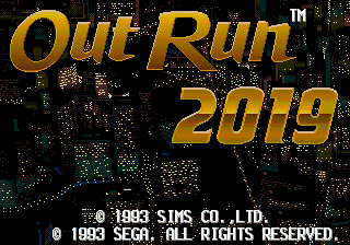 OutRun 2019 Title Screen