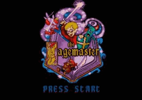 The Pagemaster Title Screen