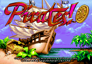 Pirates! Gold Title Screen
