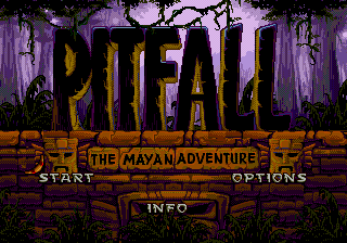 Pitfall - The Mayan Adventure Title Screen