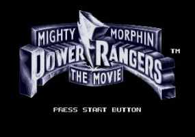 Power Rangers - The Movie Title Screen