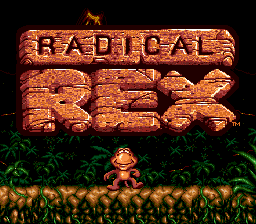Radical Rex Title Screen