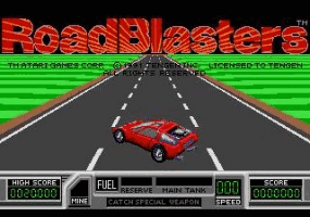 Road Blasters Title Screen