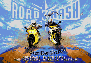 Road Rash 3 Title Screen
