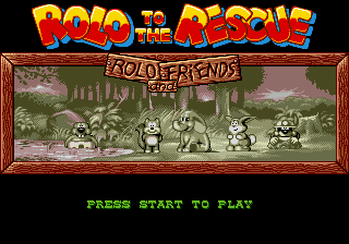 Rolo to the Rescue Title Screen
