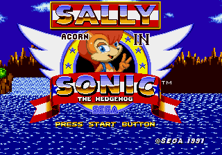 Sally Acorn in Sonic the Hedgehog Title Screen