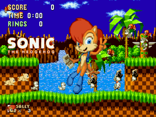 Sally Acorn in Sonic the Hedgehog Screenthot 2