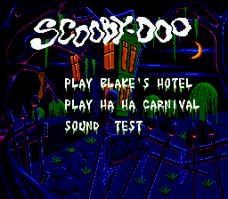 Scooby Doo Mystery Title Screen