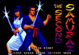 Second Samurai Title Screen