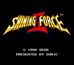 Shining Force II Title Screen