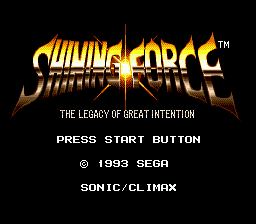 Shining Force Title Screen