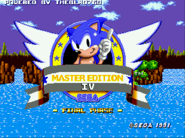 Sonic 1 - Master Edition IV (Final Phase)