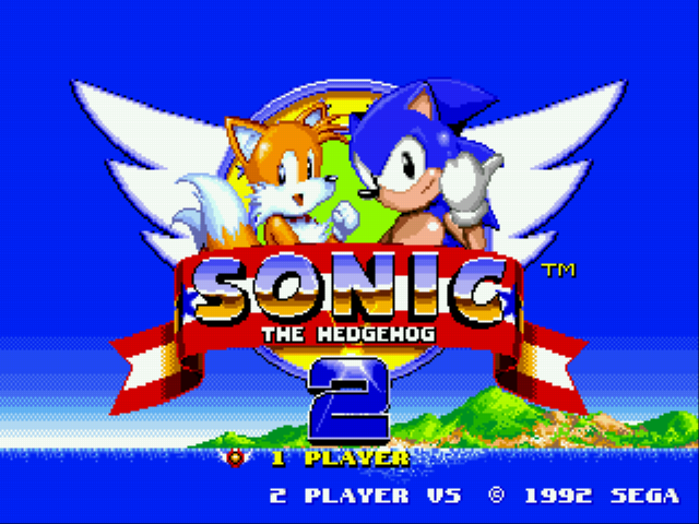 Sonic 2 - Secret Rings Control Title Screen