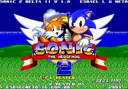 Sonic 2 Delta II Title Screen