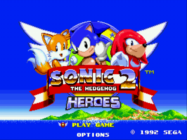 Sonic 2 Heroes Title Screen