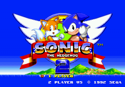 Sonic 2 Long Version Title Screen