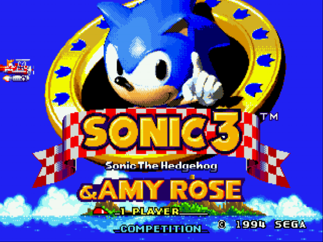 Sonic 3 & Amy Rose Title Screen