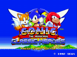 Sonic Classic Heroes Title Screen