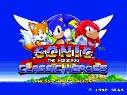 Play Sonic Classic Heroes Online GEN Rom Hack of Sonic the Hedgehog 2