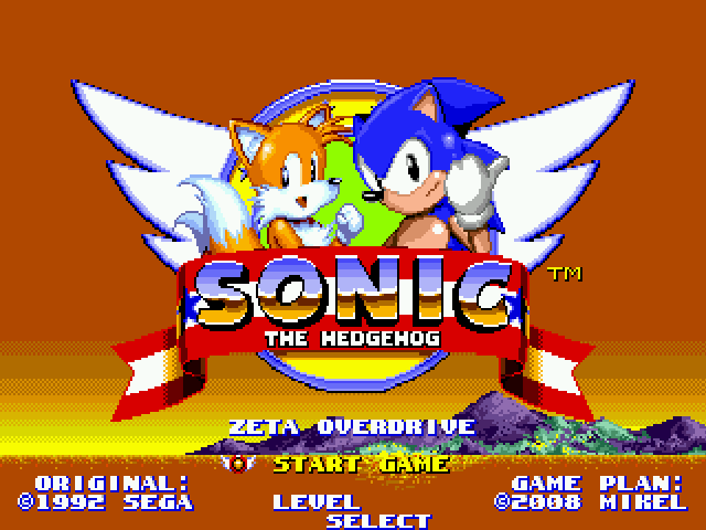 Sonic Zeta Overdrive Title Screen