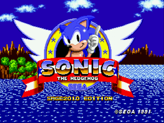 Play <b>Sonic the Hedgehog 1 at SAGE 2010</b> Online