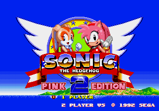 Play <b>Sonic the Hedgehog 2 - Pink Edition</b> Online
