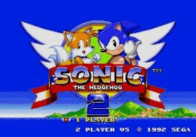 Sonic the Hedgehog 2 Title Screen