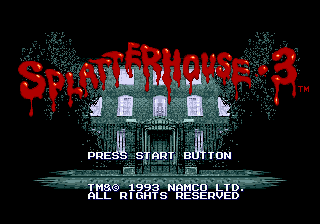 Splatterhouse 3 Title Screen