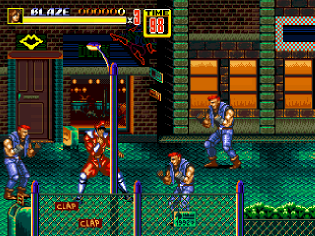 Street Of Rage  Game Gear Room