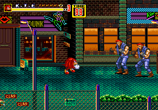 Streets of Rage 2 and Knuckles