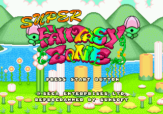 Super Fantasy Zone Title Screen