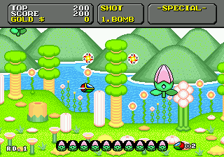 Super Fantasy Zone Screenshot 1
