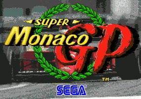 Super Monaco Grand Prix Title Screen
