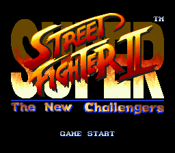 Super Street Fighter II - The New Challengers Title Screen