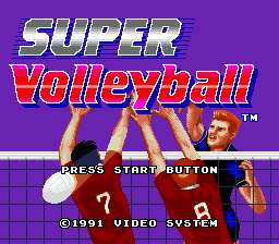 Super Volleyball Title Screen