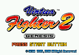 Virtua Fighter 2 Title Screen