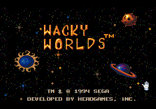 Wacky Worlds Creativity Studio Title Screen