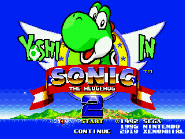 Play <b>Yoshi in Sonic 2 (beta)</b> Online