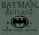 Batman Returns Title Screen