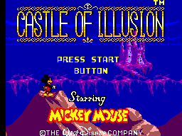 Castle of Illusion Starring Mickey Mouse Title Screen