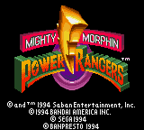 Mighty Morphin Power Rangers Title Screen