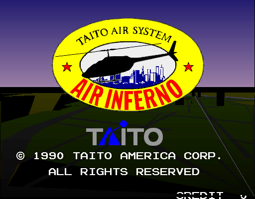 Air Inferno (US) Title Screen