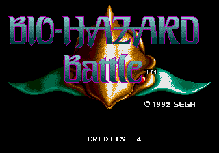 Bio-hazard Battle (Mega Play) Title Screen