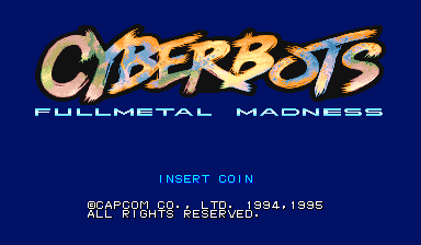 Cyberbots: Fullmetal Madness (Euro 950424) Title Screen