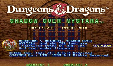 Dungeons & Dragons: Shadow over Mystara (Euro 960619) Title Screen
